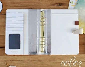 SALE Natural Webster's Pages Color Crush A5 Binder Only • Free Washi Tape with this order