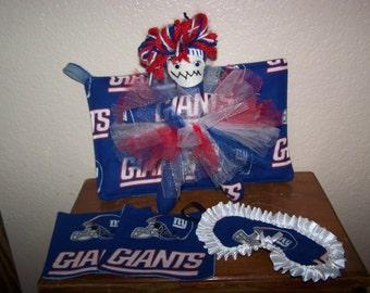 Dammit Doll Women Giants Sleep Mask UpCycled Redneck Potholders(2) Drink Rug Mugs(2)) Gift Set Tailgating Christmas Pro Football For Her