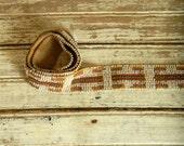 Antique Beaded Belt, Sash, Beaded Ribbon, Bohemian Beaded Belt, 1920s Art Deco Style Beaded Wrap Belt, 20s Beaded Accessories, Flapper Girl