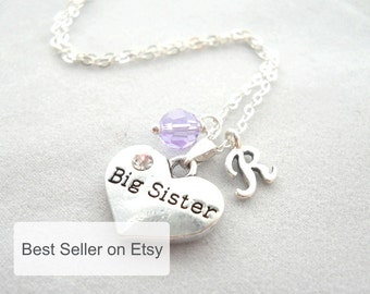 Big Sister Necklace, Big Sister Gift, Big Sister Little Sister Outfits, Middle Sister Necklace, Gift for Big Sister, Sister Jewelry N094
