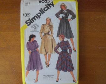 Simplicity 6025 Misses Asymmetrical Dresses Size 12 bust 34