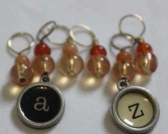 Typeface Stitch Markers