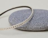 Antique Sterling Silver Crescent Moon Bangle Bracelet . AS-IS . Unique  Moon Design