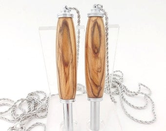 Seam Ripper Necklace, Handmade with Olive Wood