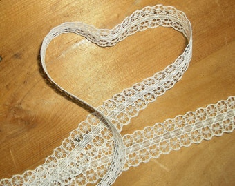 "31 yards • White synthetic 1"" Lace Trim"
