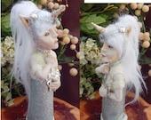 Mythical Unicorn Goddess OOAK Fairy Fairies Art Dolls NEW Polymer Clay Fantasy Figurine Sculpture