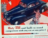1939 Pontiac General Motors Car Ad, Lowest Price Car, Transportation, Ad Sedan, automobile Print ad, car print ad, Pontiac Car Ad