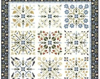 Dear William Morris Quilt Pattern Michele Hill Block of Month Set