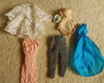 Lot of Vintage Barbie Clothes