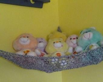 Hammock for Stuffed Animals, Overcast Grey Ombre
