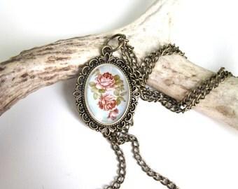Floral- Necklace- original artwork - April Alayne- ornate-pastel- feminine