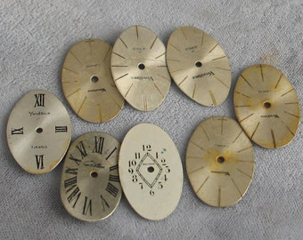 Selection of 8 Oval  Watch Faces