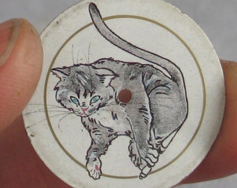 "1 Piece Cat  Round 1 1/8""  Watch Face"