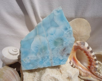 Larimar Slab #100 - Large Larimar, Soul Mate, Twin Flame, Atlantis Encoded, Blue Healing Stone