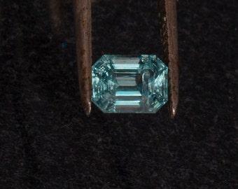 14kt White Gold AAA Grade Aquamarine & Diamond Unique Engagement Ring
