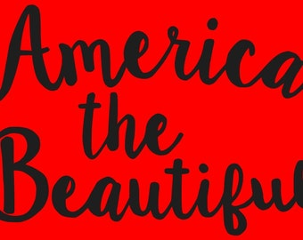 AmEriCa ThE BeAuTiFuL Stencil Make Your Own Primitive Signs Primitive/American/Patriotic Word Stencil Hafair