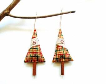 Cinnamon stick tree sachets, Christmas ornaments, Christmas balsam, cinnamon trees, scented ornaments, Balsam pine cinnamon chips