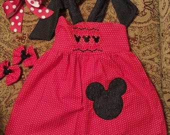 Custom Made Mickey Mouse Halter Sundress Adult Size