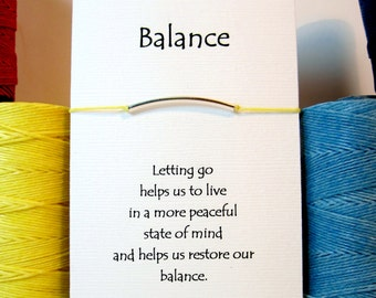 Balance Silver Wish Bracelet