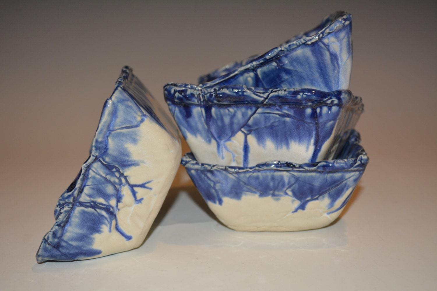 Ceramic Bowls Square Pottery Bowls Gift Set Of 4 Pottery