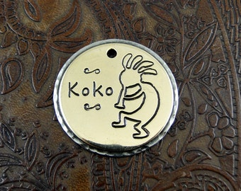 Personalized Kokopelli -Pet ID Tag, Dog Tag, Pet Collar ID Tag, Dog Tag for Dogs