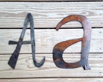 Large Metal Uppercase A and Lower Case A - Studio Sale