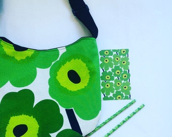 Marimekko Unikko Messenger Bag, cross body bag, shoulder bag Pieni Unikko many colours