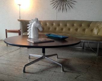 "MOD-LOVE SALE! Vintage Herman Miller Eames Coffee Table 42"" Round Mid Century Modern Coffee Table"