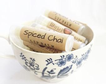 Spiced Chai Lip Balm -  Natural Lip Balm, Cocoa Butter Lip Balm, Beeswax Lip Balm