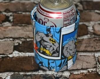 Batman Can/Bottle Cozy/Home Decor/ Housewarming Gift/ Kitchen Decor/ Hostess Gift/ Wedding Gift/ Gift for her/ Fun gift/ Boyfriend gift