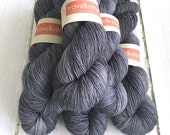 BFL Supersock British Bluefaced Leicester / Nylon sock yarn - Puddled Iron