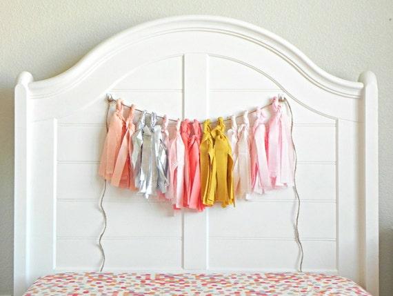 Fabric & Foil Tassel Garland