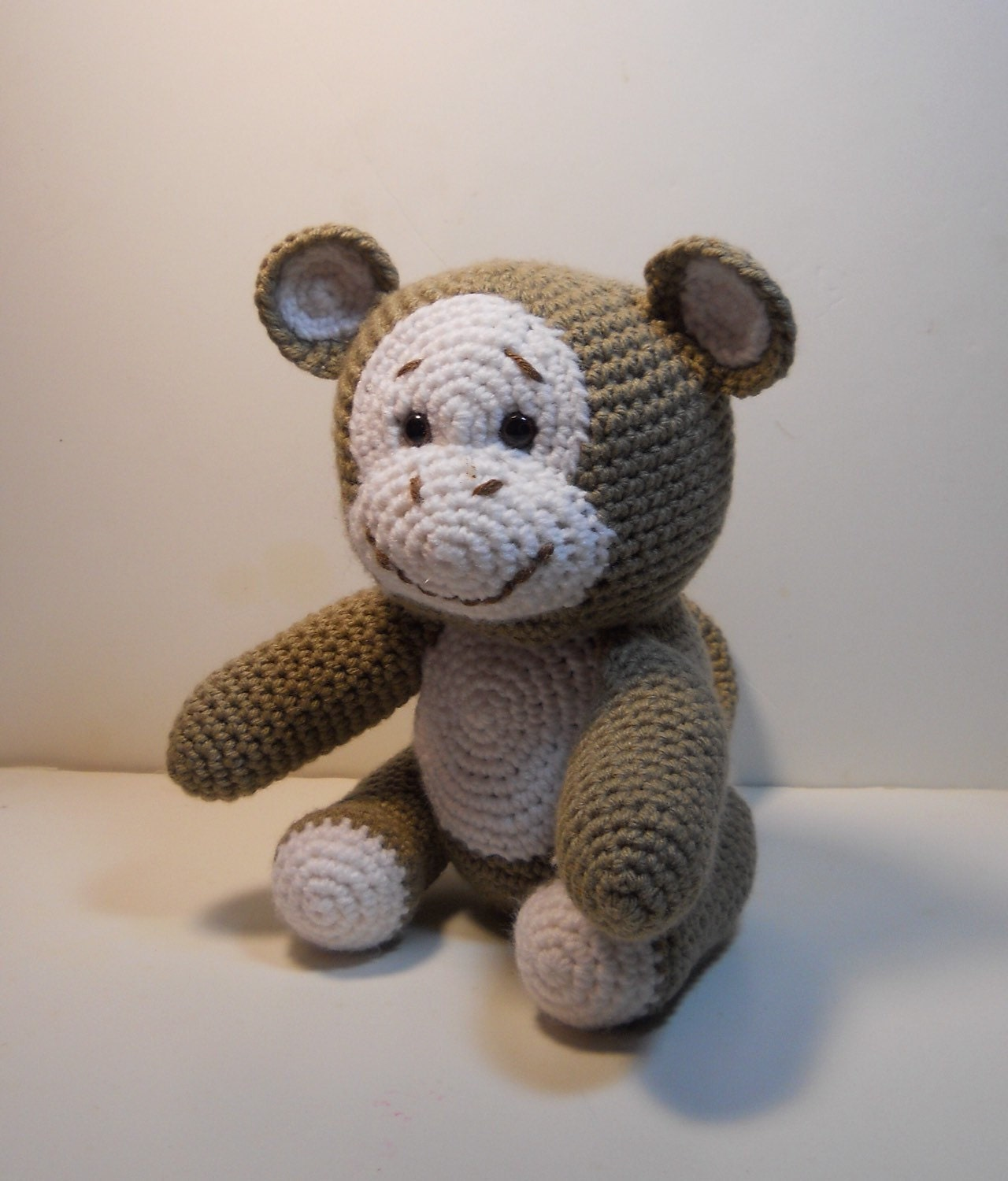 Amigurumi Monkey Etsy : Crocheted Monkey amigurumi style stuffed animal. by ...