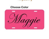 Personalized License Plate - Car Decal - Vinyl Car Decal, Personalized Decal, Custom License Plate, License Plate Sign