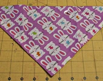 Dog Bandana, Easter, neckerchief, spring, bunny, rabbit, purple