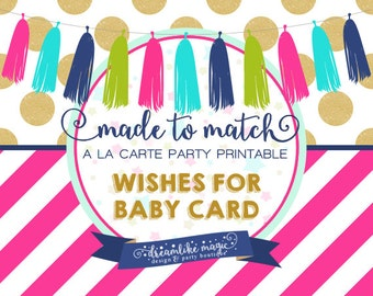 Made to Match Party Printable- Wishes for Baby Card