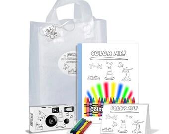 Color-Me-Wedding Gift Bag for Kids, unique child wedding favor, wedding favor for children, kid wedding favor (PK611)