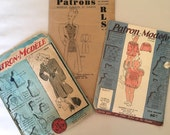 Antique French Sewing Patterns French Dresses Patron Modele Paris A Collection