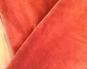 Vintage Cotton Velvet Sewing Fabric Upholsterly Fabric Rust Orange