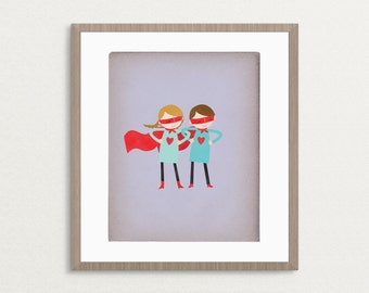 Super Heroes - Customizable 8x10 Archival Art Print