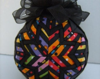 Kaleidoscope Ornament/Colorful Ornament/ Quilted Ornament/Christmas Ornament/Decoration