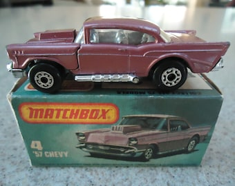 Vintage Lesney Matchbox 57 Chevy No 4g