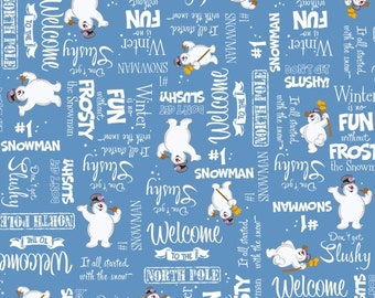 Fun with Frosty and Phrases  from Quilting Treasures - by the yard