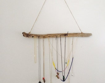 Handmade Driftwood Necklace Display