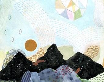 Cascade // 8 x 10 eco-friendly wall art mountains print