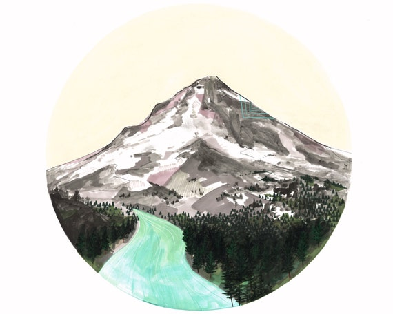 Mountain // eco-friendly wall art print