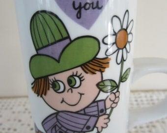 Vintage Royal Crown Arnart Smug Mugs I Love You Made in Japan