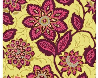 Joel Dewberry Heirloom Garnet Ornate Floral Cotton Fabric