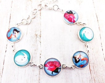 Mexican Loteria Silver Bracelet