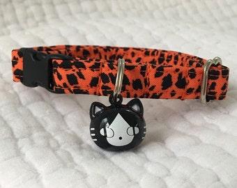 Candy Corn pumpkin Bell  Breakaway Collar Custom Made